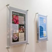clear acrylic a3 poster holders wall fixed