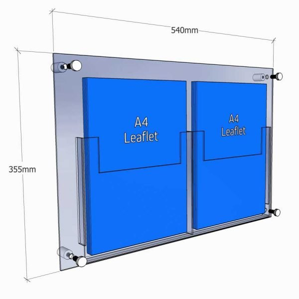 acrylic leaflet holder wall fixed