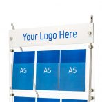 Custom logo panel option for D3 brochure displays