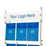 Custom logo panel option for D3 brochure displays
