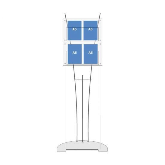 A5 leaflet display stand