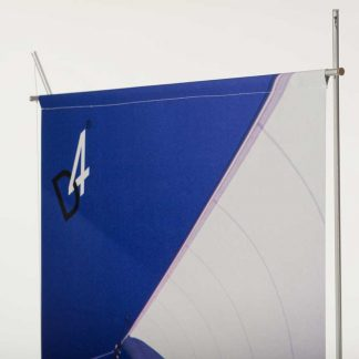 hemmed tension graphic banner display