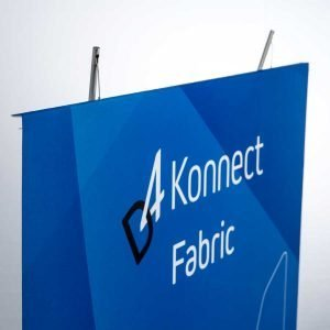 tension fabric banner stand detail