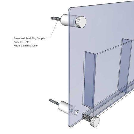 aluminium wall fixing diagram