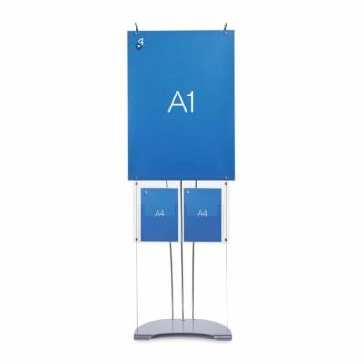 A1 Banner Stand With Brochure Holder display system