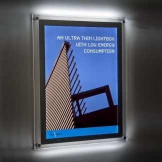 Wall mounted light boxes available in 4 sizes