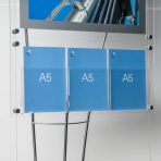 Clear acrylic A5 leaflet holder pocket on display stand, A5 Triple Brochure Pocket