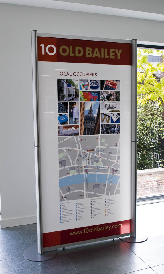 1m x 2m acrylic display for office space marketing
