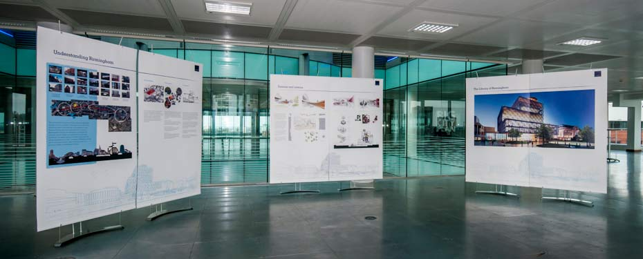 Large 1m roll up banner stands for temporary exhibition