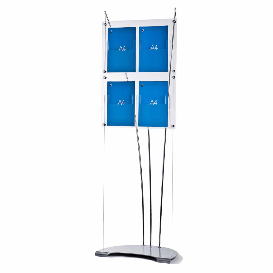 A4 brochure stand free standing acrylic literature stands for Plastic flyer stand