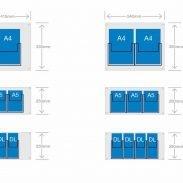D3 Acrylic Brochure holder pocket sizes