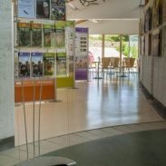 Floor standing leaflet display system with DL & A5 acrylic pockets