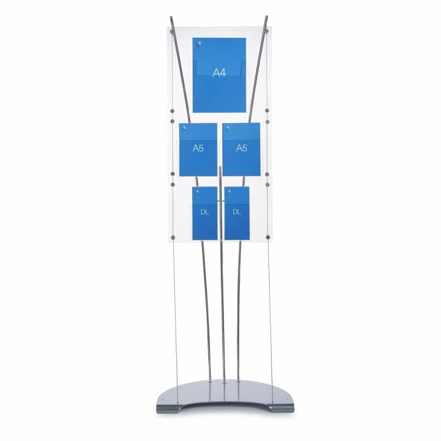 Brochure dispenser stand for a4 a5 dl literature for Plastic flyer stand