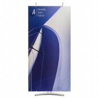 Banner stand graphic material  - metallic light block fabric