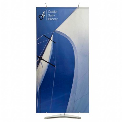 Banner stand graphic material  - opaque polyester opaljet