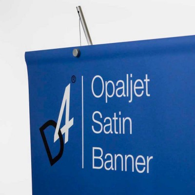 Detail image of banner stand graphic material  - opaque polyester opaljet