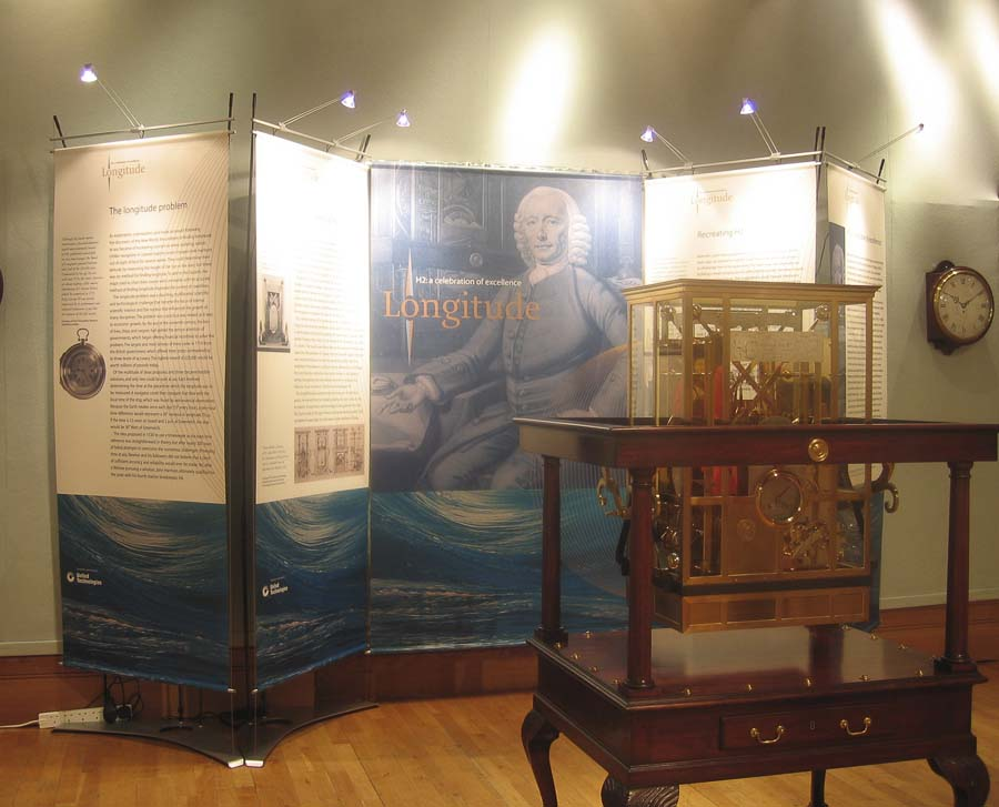 Temporary banner exhibition display for auction at Christies
