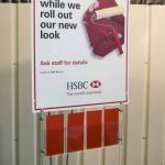 Sample banner and brochure display system fro HSBC bank