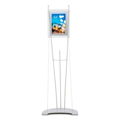 A4 poster holder stand with 1 perspex holders