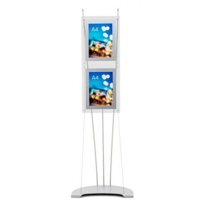 A4 poster holder stand with 2 perspex holders