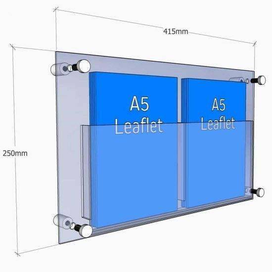 a5 acrylic leaflet holder wall fixed