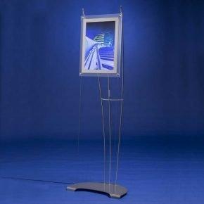 A3 portrait LED light box on floor standing display