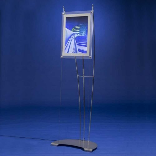 A3 portrait LED light box on floor standing display