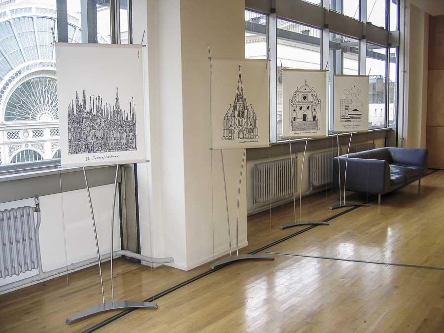 Floor standing A1 poster banner displays