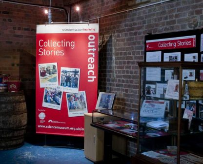 Large banner stand with lights for Canal Museum  / Science Museum