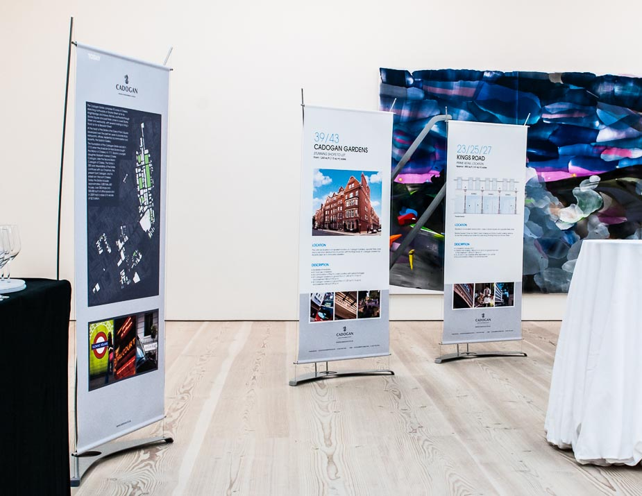 Banner displays at the Saatchi Art Gallery, London