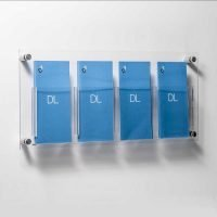 DL leaflet holders wall fixed with stand off fixings