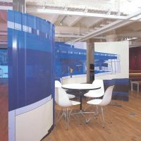 Floor standing curved tension fabric banner stands