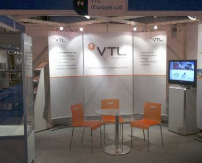 Banner stands for trade show booth