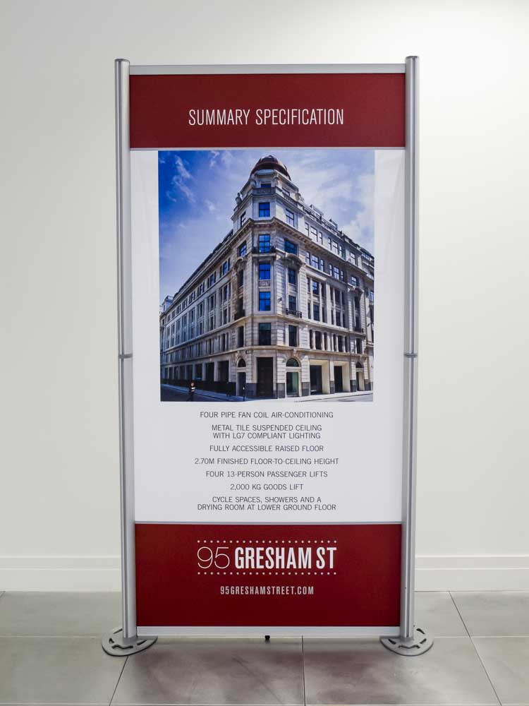 Modular Exhibition Panels for Gresham Street 2013-2
