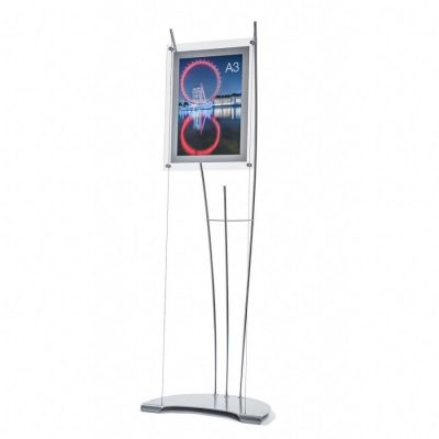 A3 poster stand, acrylic a3 poster holder on tension cables, A3 poster sign