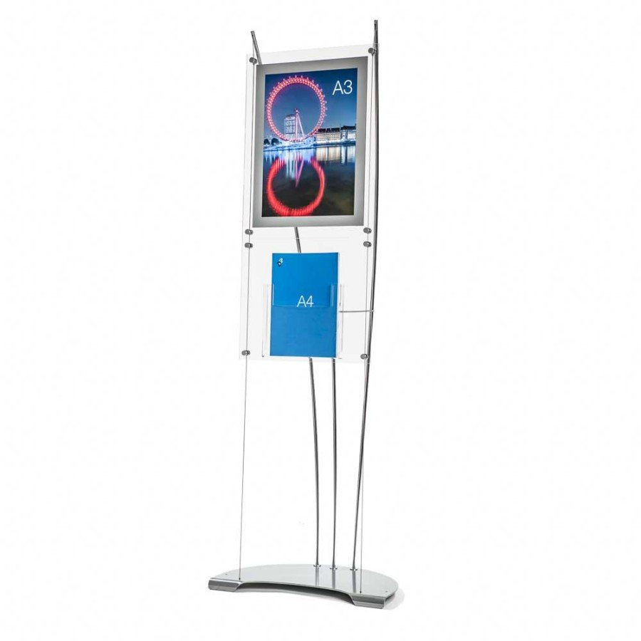 lobby sign stands with an A3 Poster Holder and A4 brochure holder