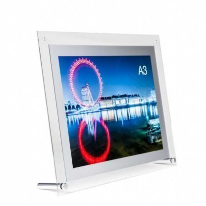 Acrylic A3 poster frame, poster display system for table tops