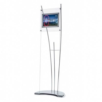 Product image of floor standing A4 poster holder display stand