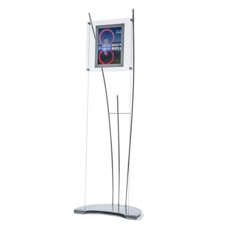 Product image of A4 floor standing poster holder display system