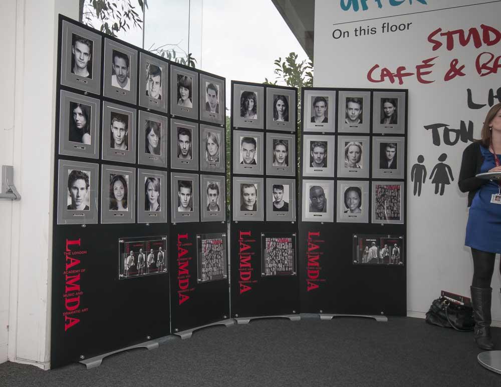 Custom A4 Poster Displays for Lamda Acting School