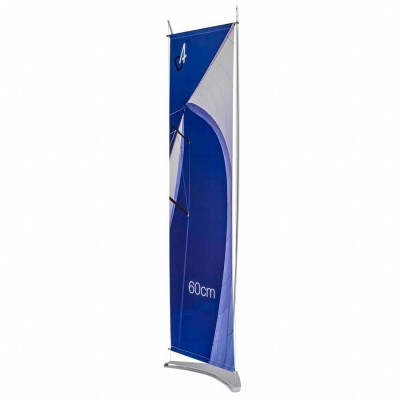 Side view of standard D4.6 banner stand