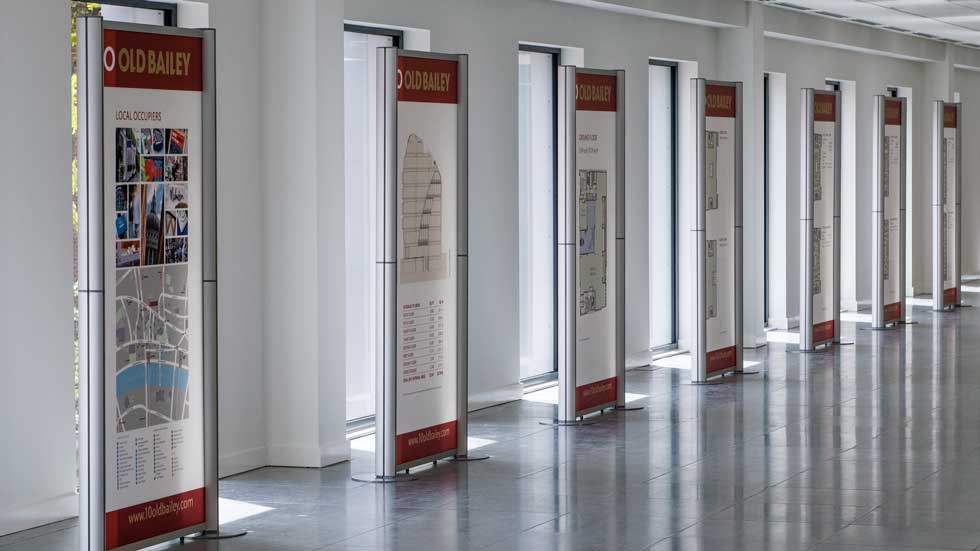 Modular display stands Large acrylic exhibition display panels