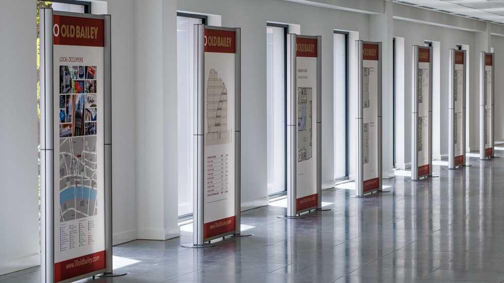 Modular display stands Large acrylic exhibition display panels