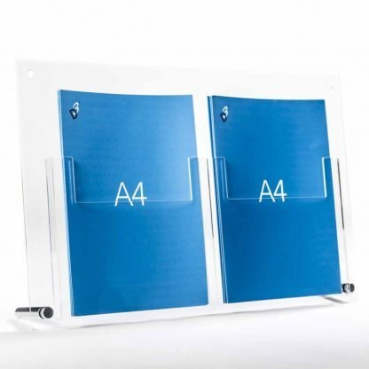 a4 brochure holder acrylic table top stand for A4 leaflets