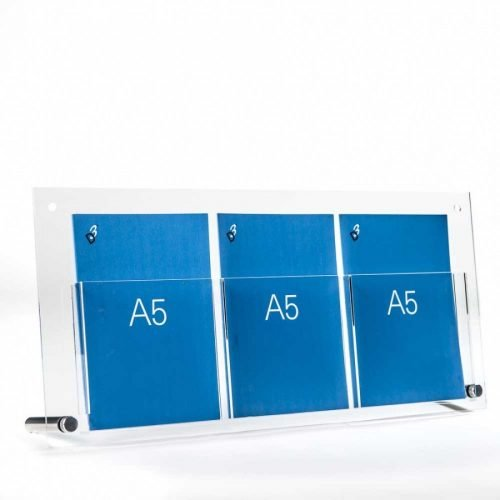 a5 brochure holder table top