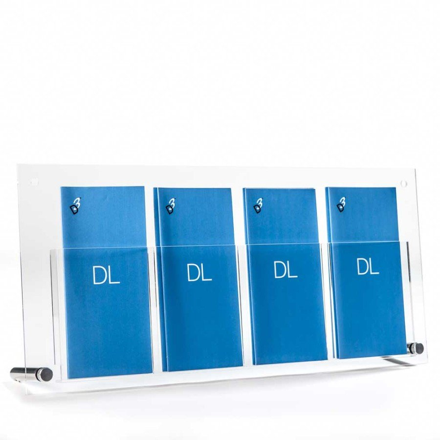 DL Brochure Holder | Table Top DL Holder Stand with Aluminium Feet