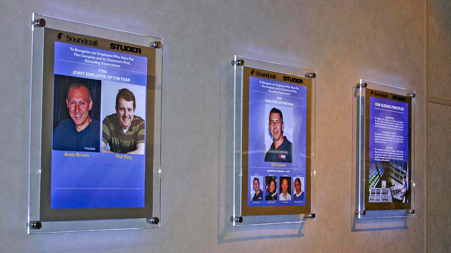 Wall Hanging Light Box : LED Light Boxes - Wall Fixed, Display Stands and Tabletop