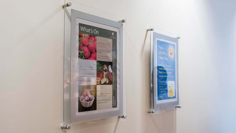 Poster Frames Holders Wall Mounted Displays