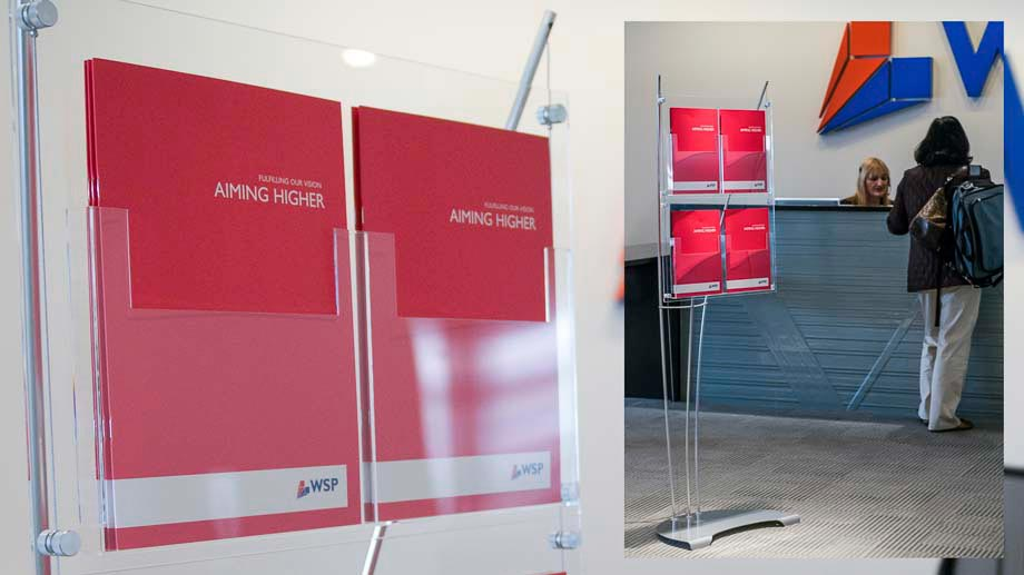 A4 brochure stands for office foyer