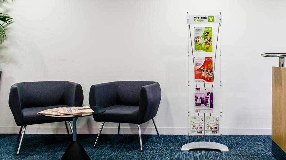 Floor standing branded leaflet stands